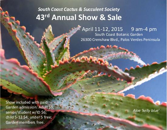 South Coast Cactus & Succulent Society Show & Sale (Sat)